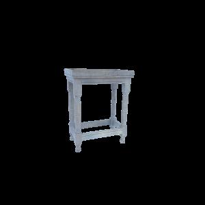 Tavolino in legno di mango finitura antichizzata color grey