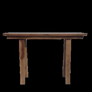 Consolle in legno di palissandro naturale finitura opaca