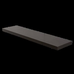 Mensola in Truciolato Nobilitato Nero - Spessore: 18mm - Bordata su 4 lati
