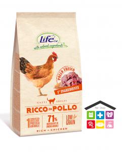LIFE GATTO SECCO 1,5KG RICCO IN POLLO