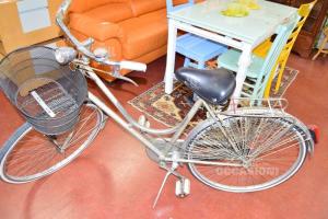 Bicicletta Vintage Piave Special Grigia Con Cestino