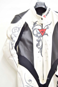 Tuta Donna Integrale Da Moto Professionale Dainese Tg 44 Bianca E Nera Mai Usata