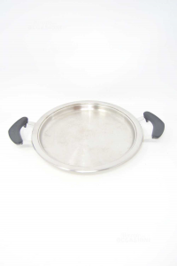 Grill Pan Amc Round 24 Cm With Handles