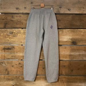 Pantalone Amish Supplies Jogger in Cotone Organico Grigio Melange