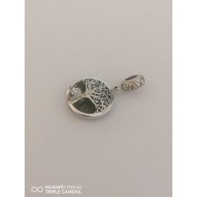 Ciondoli pendenti per bracciale componibile S'Ave Maria in argento