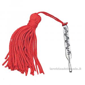 Ciondolo con Termometro in metallo e nappina rossa 0.5x4.4 cm - Decorazioni laurea