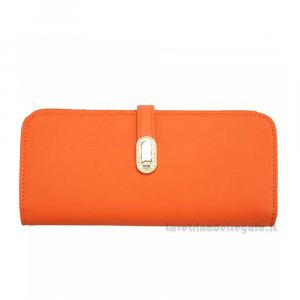 Portafoglio donna Arancione in pelle - Camilla - Pelletteria Fiorentina