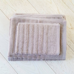 Asciugamano tortora effetto onda