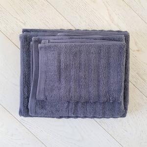 Asciugamano grigio fumo effetto onda