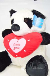 Puppet Panda White Black With Writing