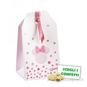 Portaconfetti bustina Minnie Stars Rosa 5.5x3.5x10 cm - Scatole battesimo bimba