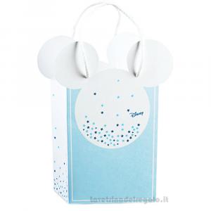 Busta regalo Mickey Mouse Stars Celeste 16x8x21 cm - Scatole battesimo bimbo