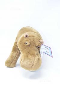 Stuffed Animal Hyppopotamus Brand Tridente New 43 Cm