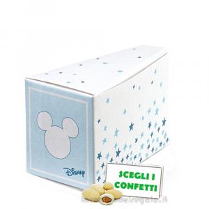 Portaconfetti Fetta di Torta Mickey Mouse Stars Celeste 8x4.5x5 cm - Scatole battesimo bimbo
