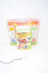 Gioco Xbox 360 Scene It? Live Quiz Sul Cinema Con Cavo Sensore E 4 Telecomandi