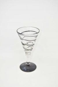 Cup Icecream In Glass Fantasy Spiral Black 21.5 Cm