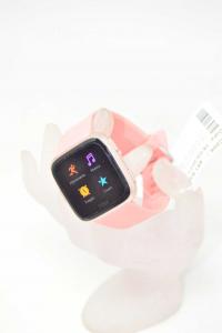 Orologio Fitbit Versa Con Cinturino Rosa Salmone Con Cavo