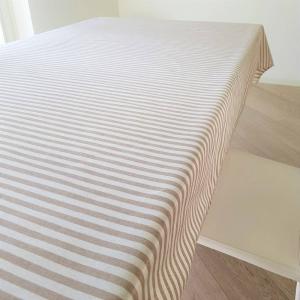 Tovaglia resinata millerighe beige 140 x 240