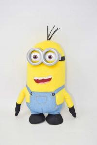Stuffed Animal Minion Yellow With Dungareesù Height 27 Cm