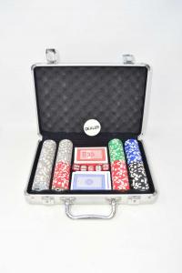 Gioco Valigetta Carte Poker Con Fish
