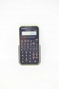 Calcolatrice Scientifica Sharp Nera E Verde Mod. EL-501X