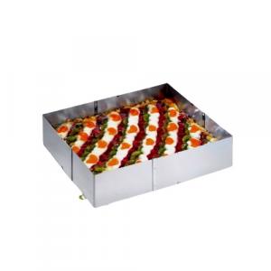 Gefu tortiera estensibile regolabile inox H8,5cm