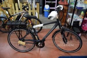 Bicicletta Elettrica Lombardo Evolution Grigia Made In Italy Modello Modena 400 NUOVA