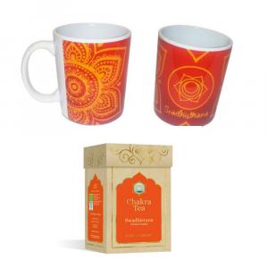 Tazza in ceramica & Tisana in foglie - Swadhistana - Chakra 2°