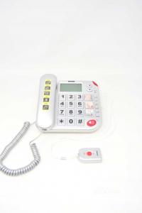 Telefono Fisso Brondi Per Anziani Con SOS + Cavi