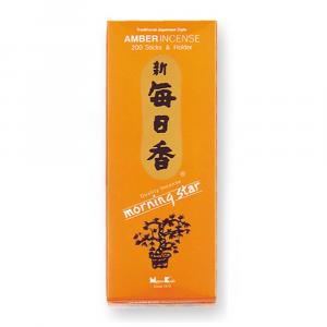 Ambra Incenso giapponese 200 stick + porta incensi