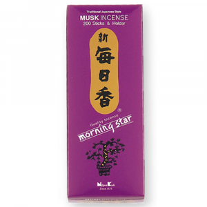 Muschio Incenso giapponese 200 stick + porta incensi