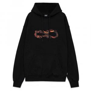 PROPAGANDA Hoodie Logo Fire Black
