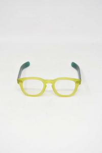 Occhiali Da Vista Kador Montatura Gialla E Verde Made In Italy