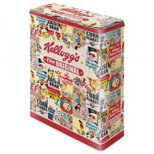Scatola XL Kellogg's the original collage di latta