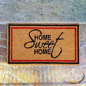 Zerbino Home sweet home bordato 40 X 60
