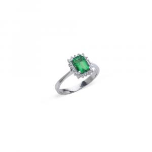Anello con Smeraldo Ottagonale