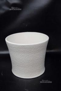 Plant Pot White Ceramics Bassano 20x17 Cm