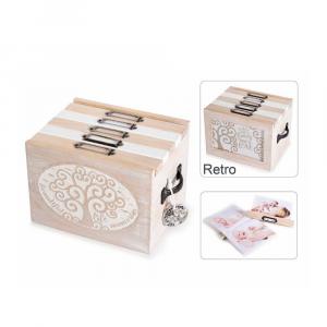 Scatola portafoto in legno con 5 album Albero della Vita