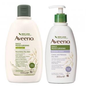 Aveeno bundle bagno doccia 500ml + crema idratante aroma di lavanda 300ml