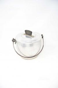 Pot Aluminum With Lid 19x17 Cm