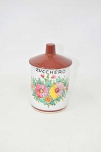 Vase Santucci Deruta Sugar With Lid 17 Cm