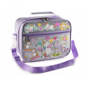 Lunch merenda box borsa frigo con tasca interna Unicorni