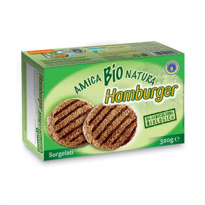 Hamburger bovino surgelati Amica bio natura