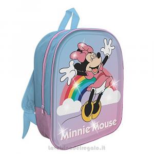 Zainetto Minnie 3D Disney con luce LED per l'asilo 26x10.5x30 cm - Articoli per la Scuola