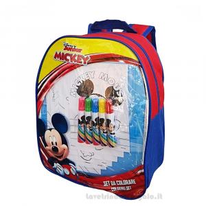 Zainetto Mickey Mouse Disney con Gadget per l'asilo 23x10x32 cm - Articoli per la Scuola