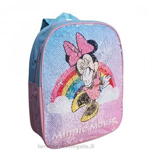 Zainetto Minnie Disney reversibile con paillettes per l'asilo 26x10x32 cm - Articoli per la Scuola