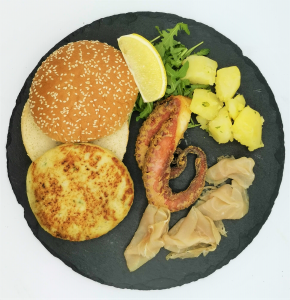 Hamburger scomposto di pesce 13€