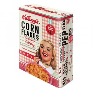 Scatola XL Kellogg's girls corn Flakes di latta