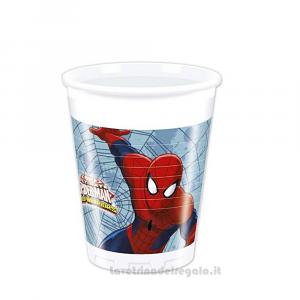 8 pz - Bicchieri Spiderman Web Warrios Compleanno bimbo - Party tavola