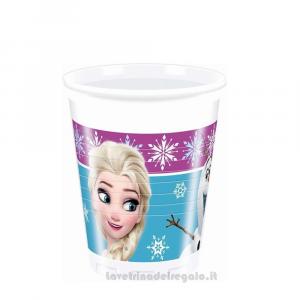 8 pz - Bicchieri Frozen Northen Lights Disney - Party tavola